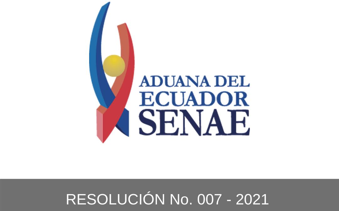 RESOLUCIÓN No. 007 – 2021