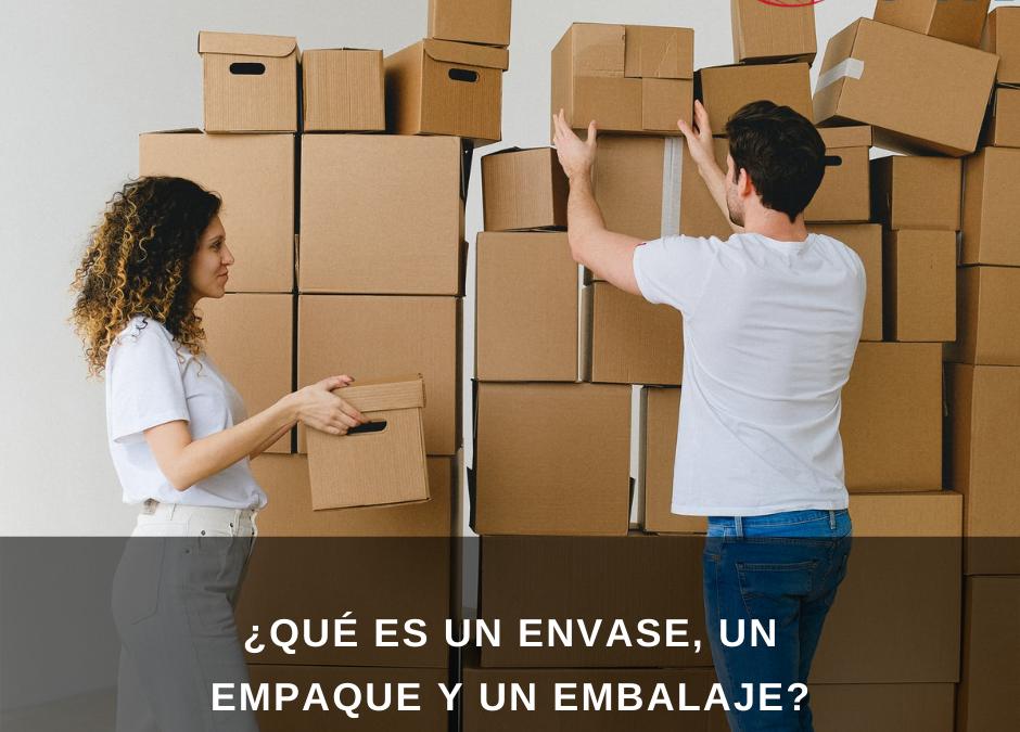 ¿Qué es un envase, un empaque y un embalaje?